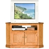 "Heritage 41"" Corner TV Cabinet - Bead Board, Oak Wood - EGL-47730"