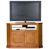 "Heritage 46"" Tall Corner TV Cabinet - Bead Board, Oak Wood - EGL-47735"