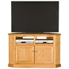 "Heritage Thin 50"" Corner TV Cabinet - Bead Board, Oak Wood - EGL-47738"