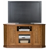 "Heritage 56"" Tall Corner TV Console - Bead Board, Glass, Oak Wood - EGL-47745"