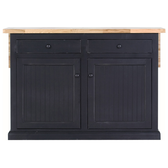 "Coastal 53"" Kitchen Island - Bead Board Doors, Flip-Up Top - EGL-72117"