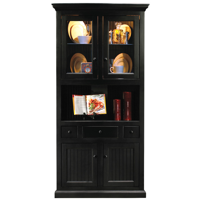 coastal corner dining hutch buffet table bead board lighting rh dcgstores com Corner Dining Buffet Kitchen Corner Buffet