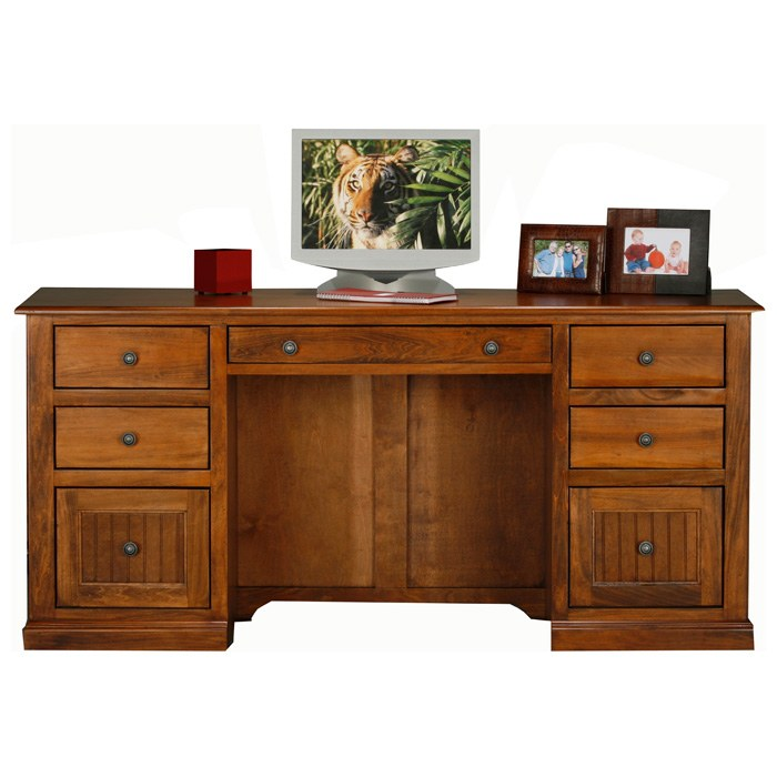 Coastal Double Pedestal Desk - Bead Board Drawers - EGL-72207