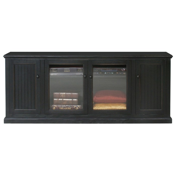 "Coastal 79"" Entertainment Cabinet - Bead Board, Glass Panels - EGL-72516"