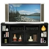 "Coastal Thin 66"" TV Cabinet - 2 Glass Doors - EGL-72565"