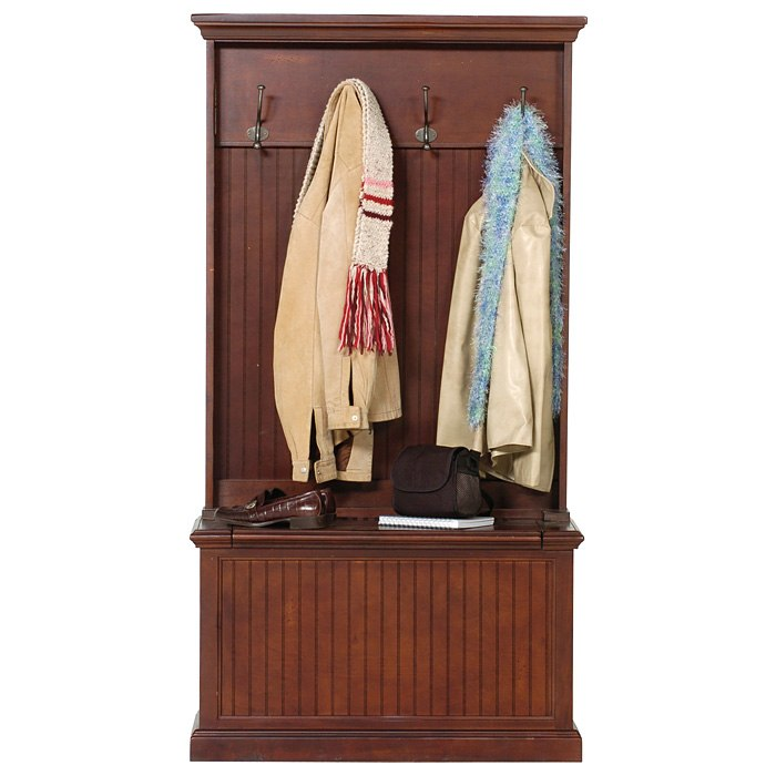 Coastal Hall Tree   Storage Bench, Coat Hooks   EGL CSTL HT ...