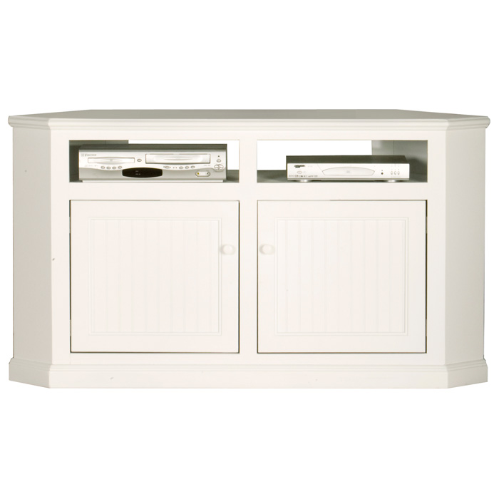 "Coastal Thin 56"" Corner TV Cabinet - Open Back Shelves - EGL-72744"