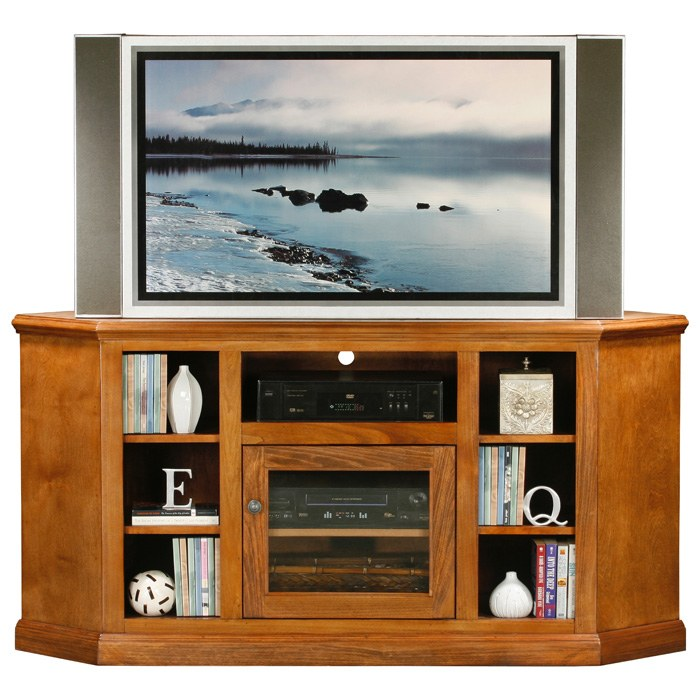 "Coastal Thin 63"" Corner TV Cabinet - Glass Door - EGL-72745"