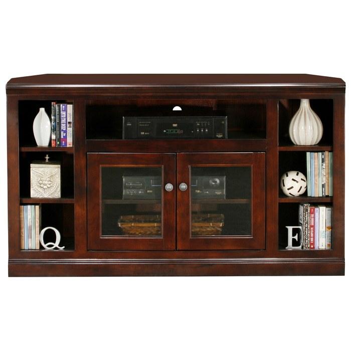 Coastal Thin 55 Quot Corner Tv Cabinet 2 Glass Doors Dcg