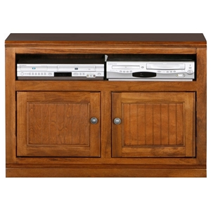 "Coastal 39"" TV Cabinet - Bead Board Doors, 1 Open Shelf"