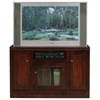 "Coastal Thin 45"" Tall TV Cabinet - Bead Board, Glass Panel - EGL-72847"