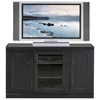 "Coastal Thin 55"" Tall TV Cabinet - Bead Board, Glass Panel - EGL-72855"