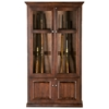 Savannah 15-Gun Cabinet - Handgun Pegs, Glass, Raised Panels - EGL-92690