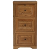 Oak Ridge 3-Drawer File Cabinet - Raised Panels, Fluting - EGL-93003