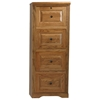 Oak Ridge 4-Drawer File Cabinet - Raised Panels, Fluting - EGL-93004