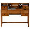 Oak Ridge Writing Desk & Low Hutch - Fluted Legs - EGL-93108-93208