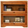 Oak Ridge 2-Door Lawyer Bookcase - Glass Doors, Fluting - EGL-93392
