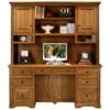 Oak Ridge Double Pedestal Desk Hutch Raised Panels Dcg Stores