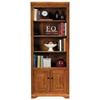 Oak Ridge 4-Shelf Bookcase - Fluting, Raised Panel Doors - EGL-93472