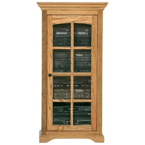 Oak Ridge Media Tower / Display Unit - Glass Door