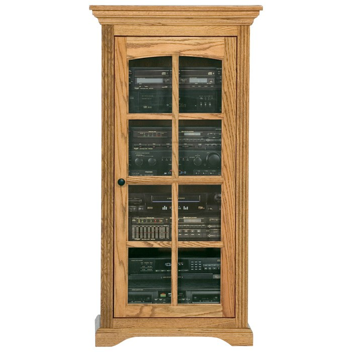 Oak Ridge Media Tower Display Unit Glass Door Dcg Stores