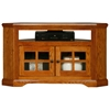 "Oak Ridge 40"" Corner TV Console - Windowpane Glass Doors - EGL-93534"
