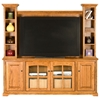 "Oak Ridge 80"" TV Console & Hutch - Raised Panels, Glass, Fluting - EGL-93562-93580"