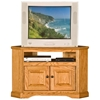 "Oak Ridge 41"" Corner TV Cabinet - Raised Panels, Fluting - EGL-93730"