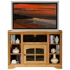 "Oak Ridge Thin 45"" Corner TV Console - Windowpane Glass Door - EGL-93746"