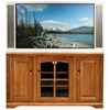 "Oak Ridge Thin 55"" Corner TV Console - Raised Panels, Glass - EGL-93755"