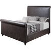 Fallyn Sleigh Bed - Vintage Brown, Antique Brass Nailhead Detailing - EGL-EAG8250VBN-BED