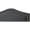 Oriana Platform Bed - Midnight, Chrome Nailhead Detailing - EGL-EAG9150CMT-BED