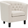 Prospect Upholstered Armchair - Button Tufted, Espresso Legs - EEI-2551-C