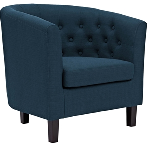 Prospect Upholstered Armchair - Button Tufted, Espresso Legs