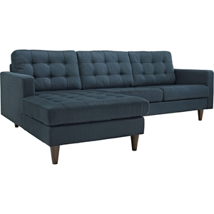 Empress 2-Piece Upholstered Sectional Sofa - LAF Chaise, Button Tufted