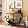 Uplift Rectangular Console Table - Brown, Black - EEI-2635-BRN