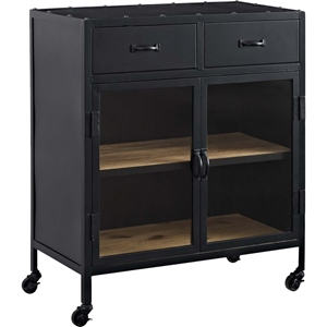 Charm 2 Drawers Cabinet - Black