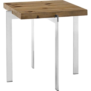 Diverge Square Side Table - Brown