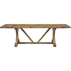 Den Extendable Wood Dining Table - Brown - EEI-2651-BRN-SET