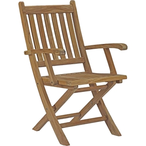 Marina Outdoor Patio Folding Armchair - Natural