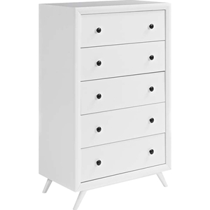 Tracy 5 Drawers Chest - White
