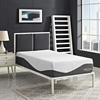 "Sabrina 12"" Twin Memory Foam Mattress - White, Dark Blue - EEI-5741-WHI"
