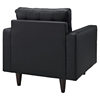 Empress Tufted Bonded Leather Armchair - Black - EEI-1012-BLK