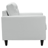Empress Tufted Bonded Leather Armchair - White - EEI-1012-WHI