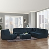 Align 5 Pieces Upholstered Sectional Sofa Set - Azure - EEI-1015-AZU-SET