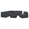 Align 5 Pieces Upholstered Sectional Sofa Set - Charcoal - EEI-1015-CHA-SET