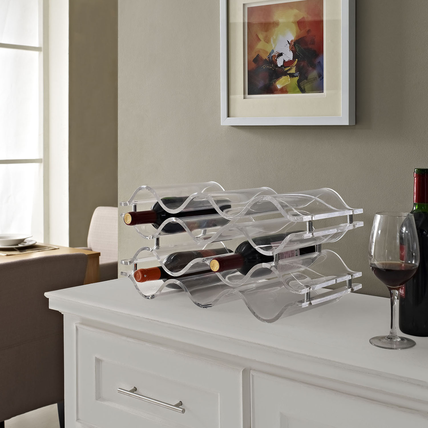 Reserve Clear Wine Rack - EEI-1021-CLR