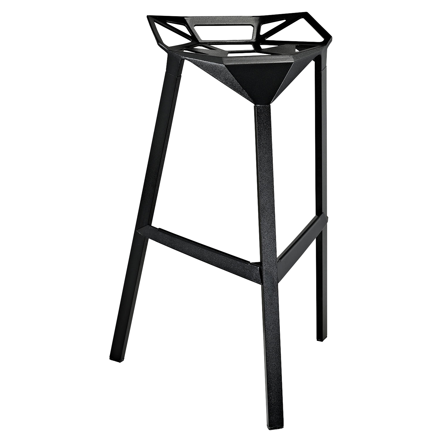 Launch Stacking Backless Bar Stool - Black - EEI-1024-BLK