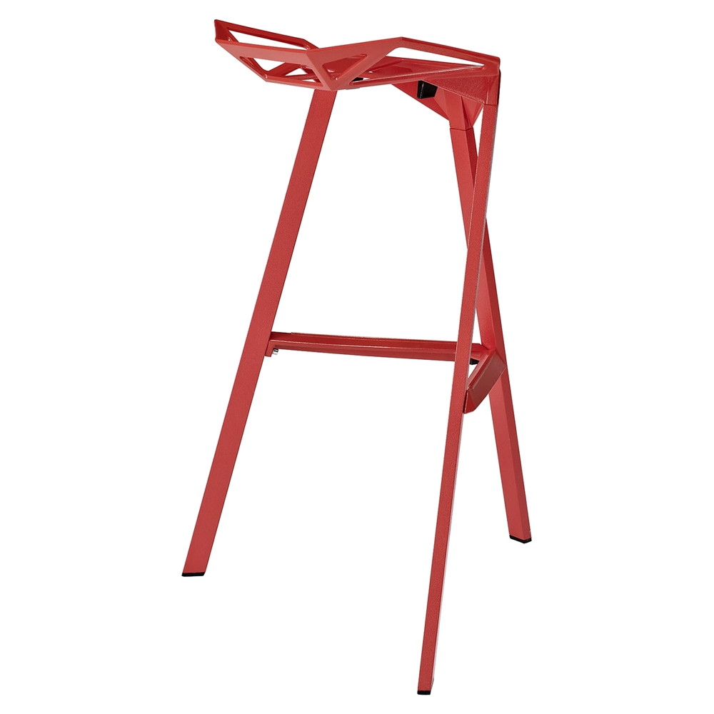 Launch Stacking Backless Bar Stool Red Dcg Stores
