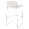 Garner Upholstery Bar Stool - White (Set of 4) - EEI-1365-WHI
